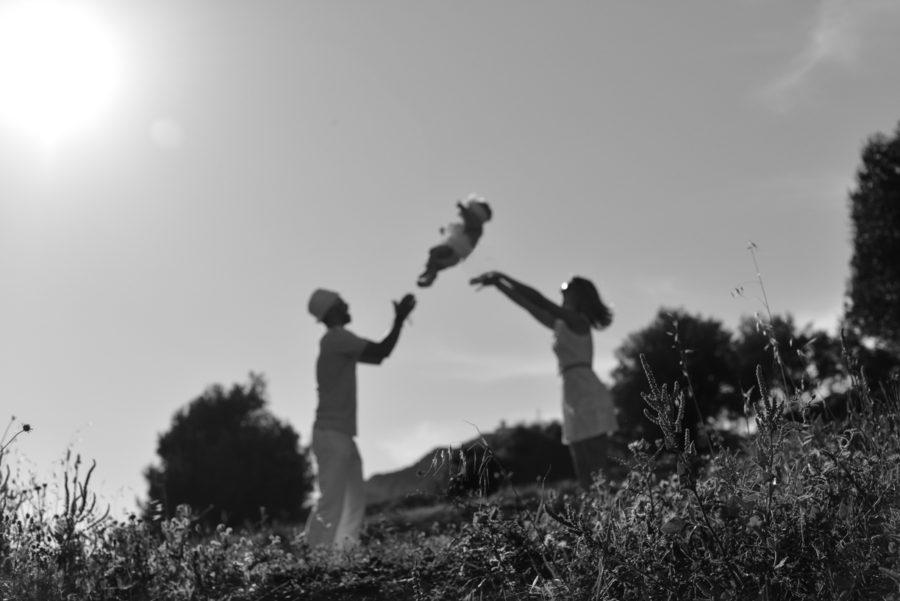 Séance Famille pour les un an de Lya