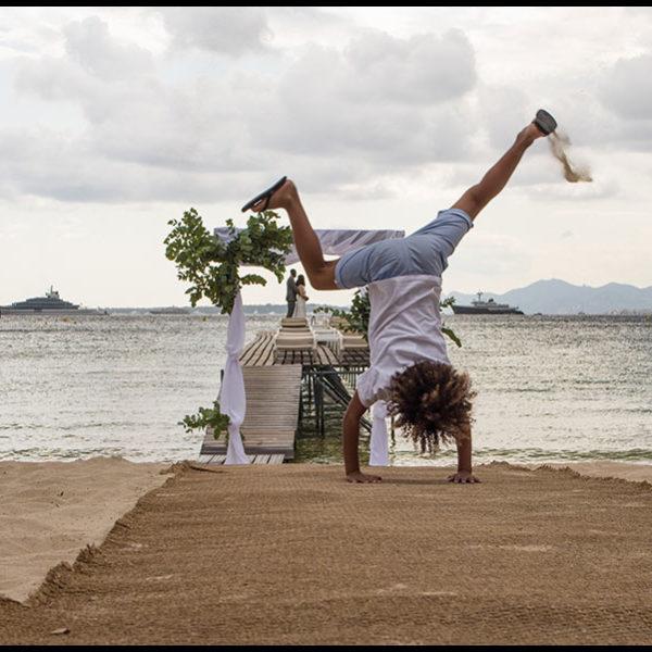 Mariage sur la French Riviera à la plage Antibes à l'Hotel AC Ambassadeur